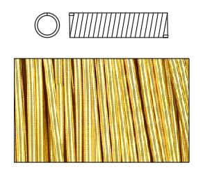 гладкая канитель для вышивки золотом