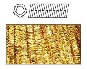 канитель трунцал для вышивки золотом