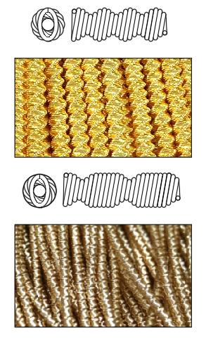 фигурная канитель для вышивки золотом